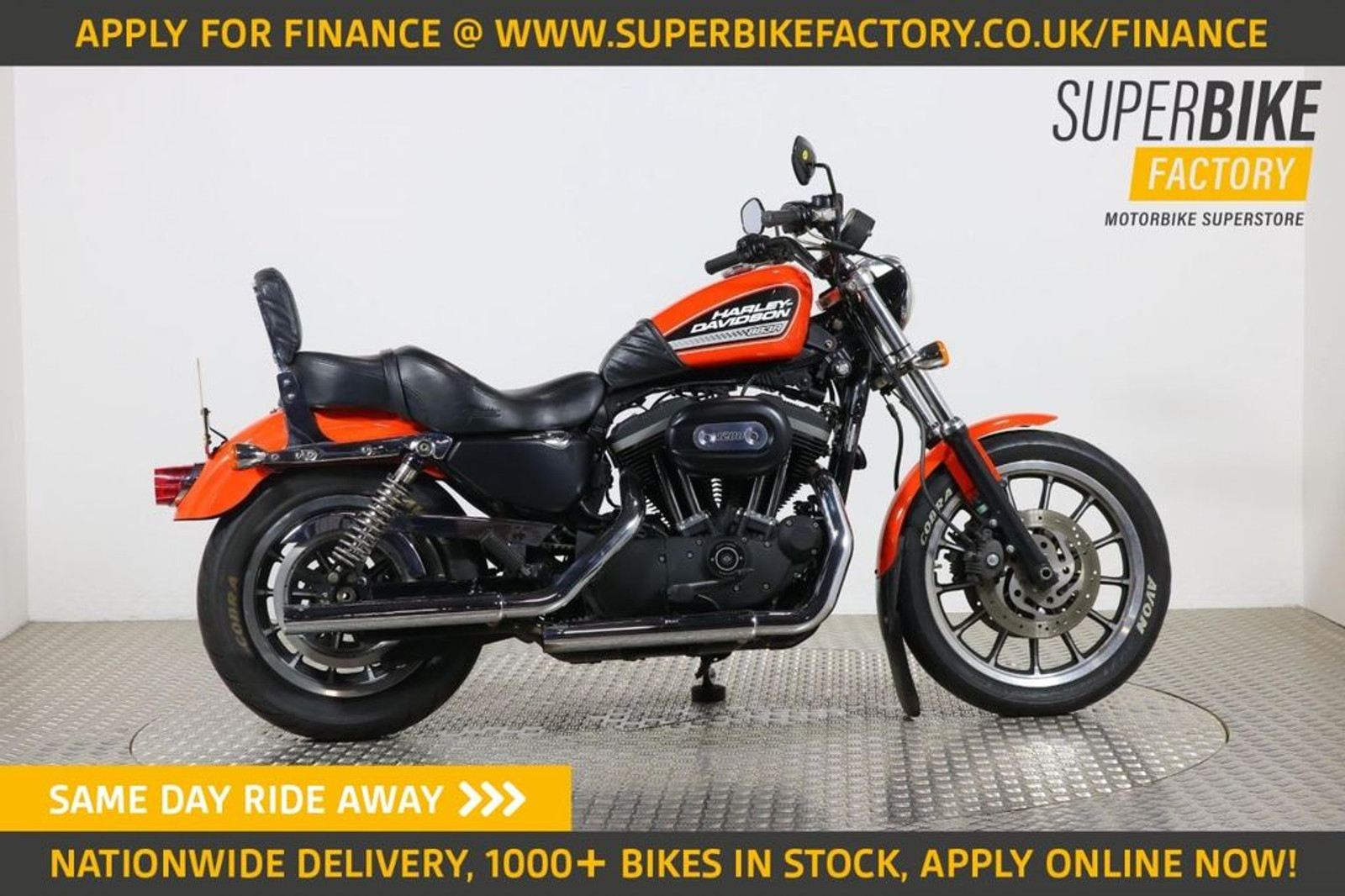 2010 Harley Davidson Sportster Xl 883 R Orange With 21600 Miles Used Motorbikes Dealer Macclesfield Cheshire The Superbike Factory