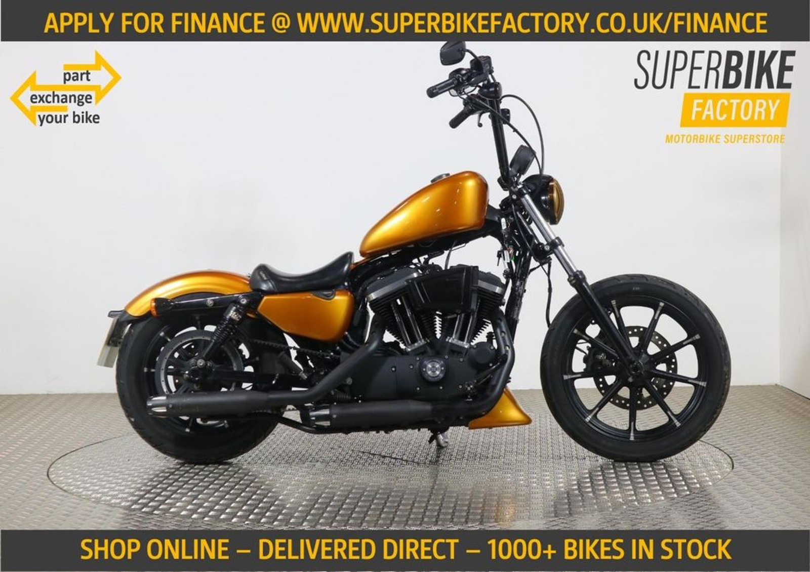 2018 Harley Davidson Sportster Iron 883 Gold With 4323 Miles Used Motorbikes Dealer Macclesfield Cheshire The Superbike Factory