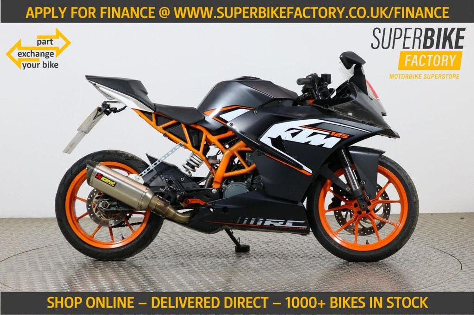 2014 Ktm Rc 125 Black With 6446 Miles Used Motorbikes Dealer Macclesfield Cheshire The Superbike Factory
