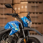 Lexmoto Assault 125 motorbike in blue from Superbike Factory