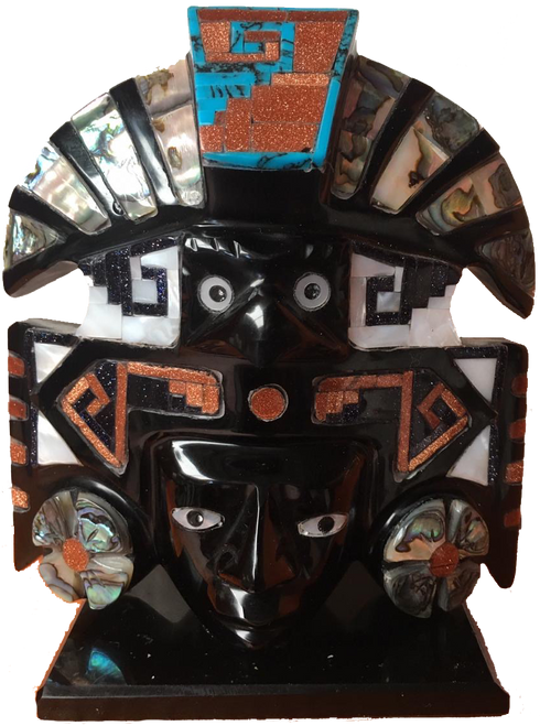 Mask of the Sun from Teotihuacan handcrafted in Mexico and sent to your door. Free Shipping