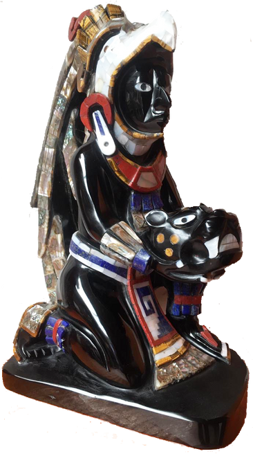 Eagle Warrior with Jaguar from Teotihuacan handcrafted in Mexico and sent to your door. Free Shipping