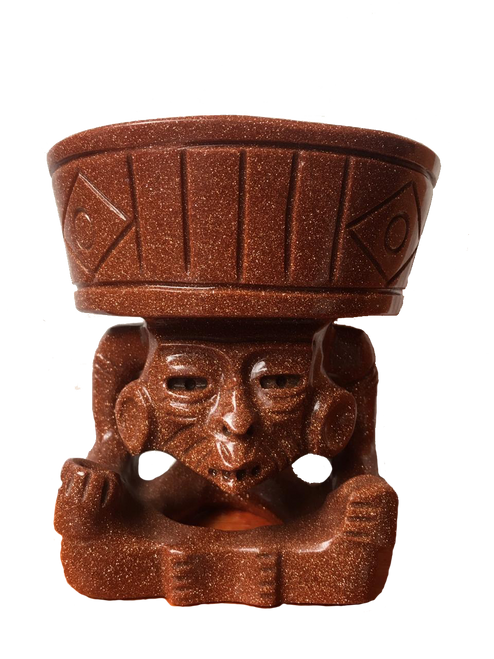 Sculpture of Huehueteotl from Teotihuacan handcrafted in Mexico and sent to your door. Free Shipping