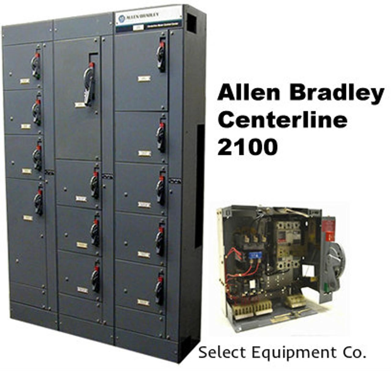 Allen Bradley Centerline 2100 Motor Control Centers & MCC