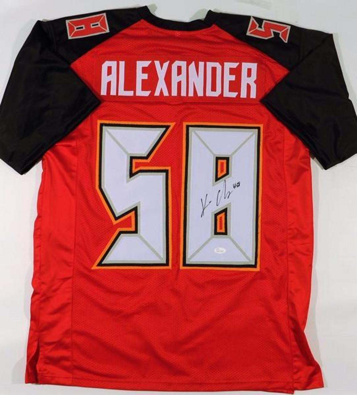 pretty nice 84633 05c3f Kwon Alexander Tampa Bay Buccaneers NFL Autographed Custom Football Jersey