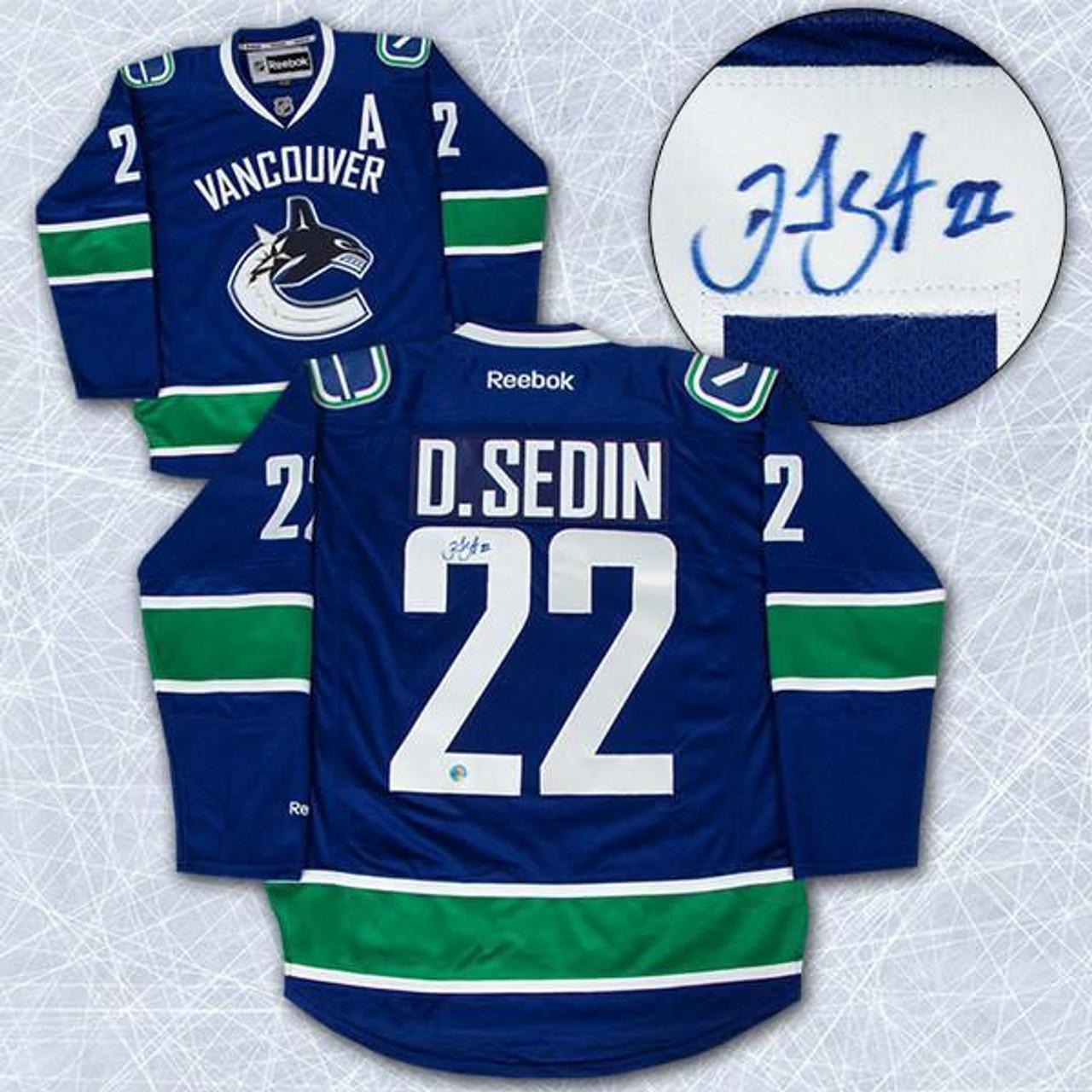brand new cccf7 2f016 Daniel Sedin Vancouver Canucks Autographed Reebok Replica Jersey