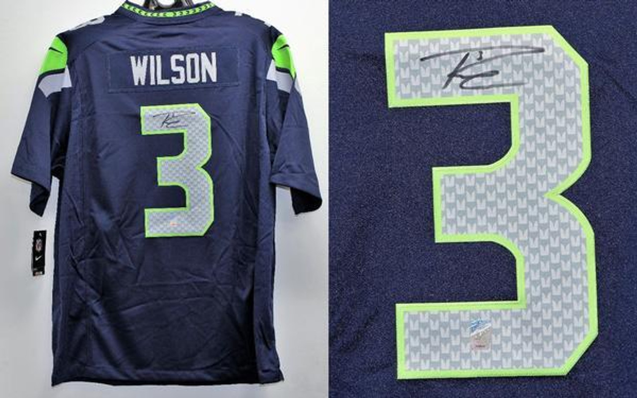 get cheap 165a7 1c503 Russell Wilson Seahawks Seahawks Autographed Authentic on Field Nike  Football Jersey