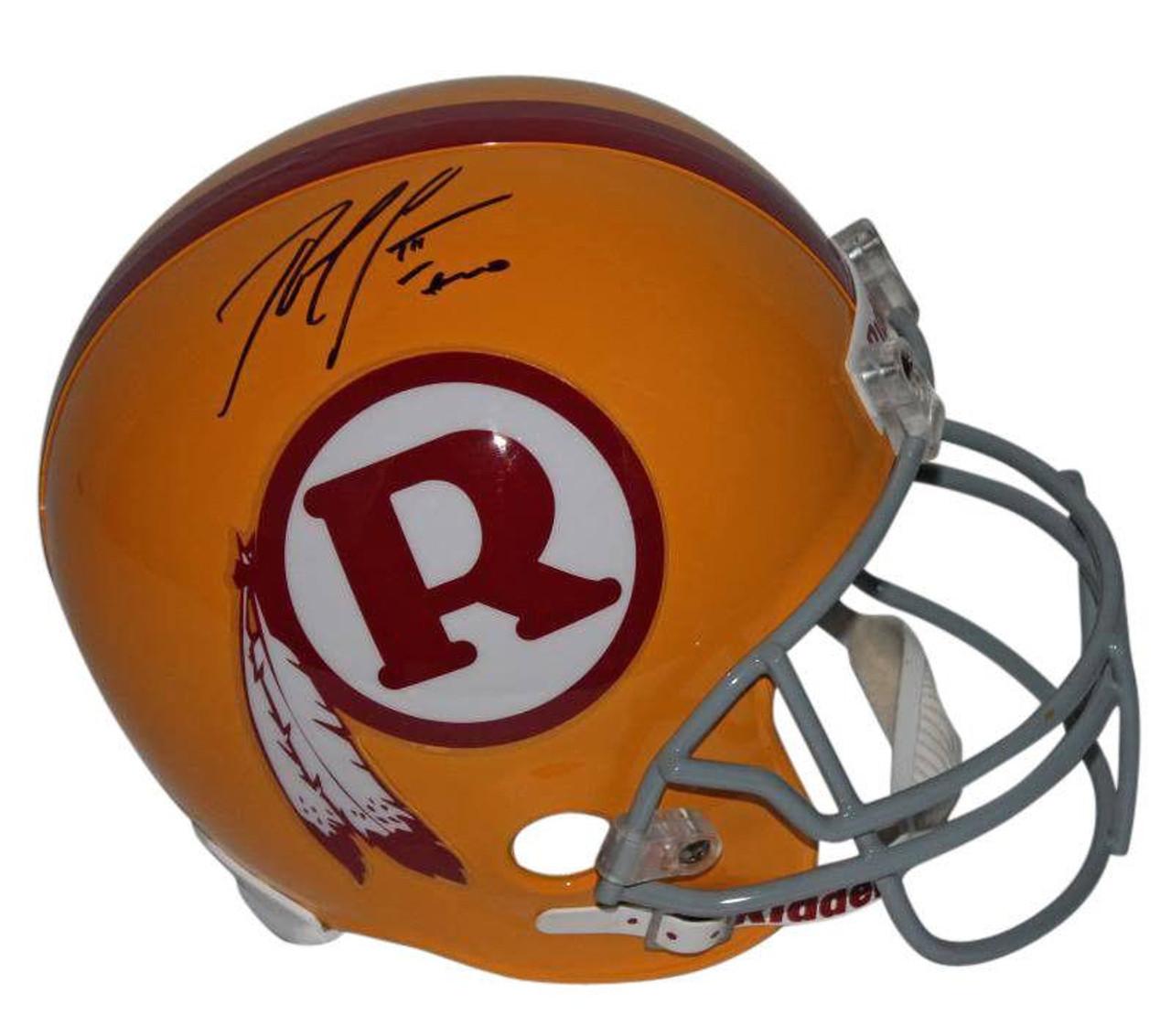 Robert Griffin III (RG3) Washington Redskins Autographed Retro Full Size  Replica Football Helmet 34358a046