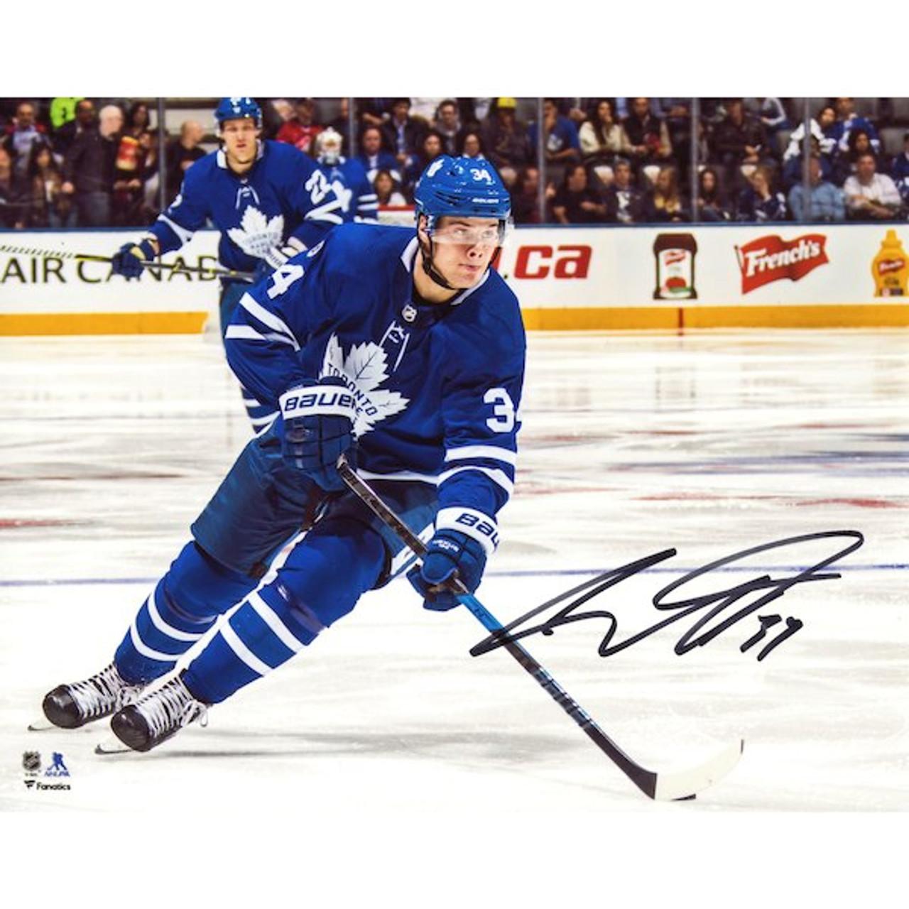 more photos 9194d 9383a Auston Matthews Toronto Maple Leafs Autographed Skating Up 16x20 Photo
