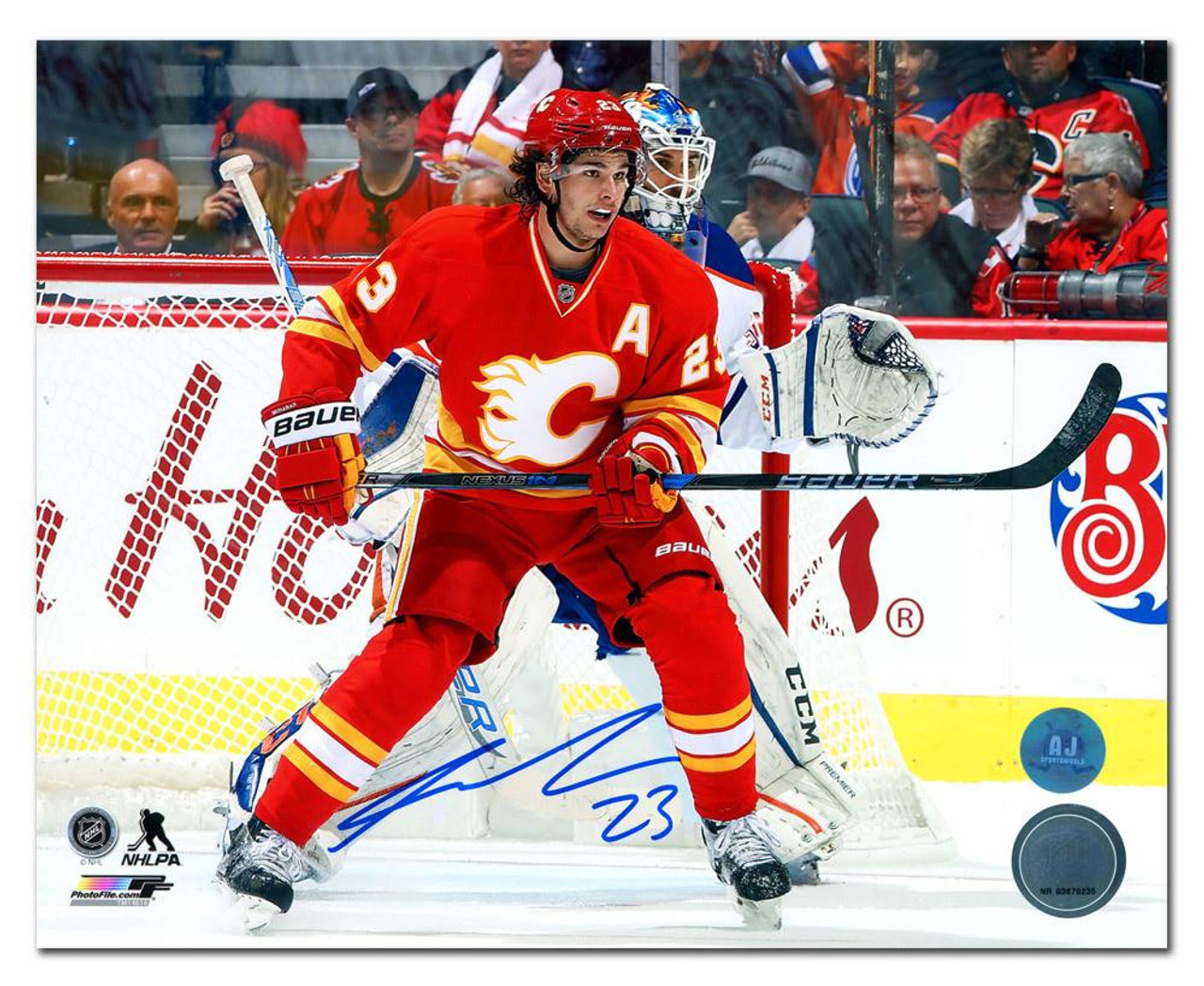 Sean Monahan Calgary Flames Autographed 8x10 Photo Maverick Autographs And Colelctibles