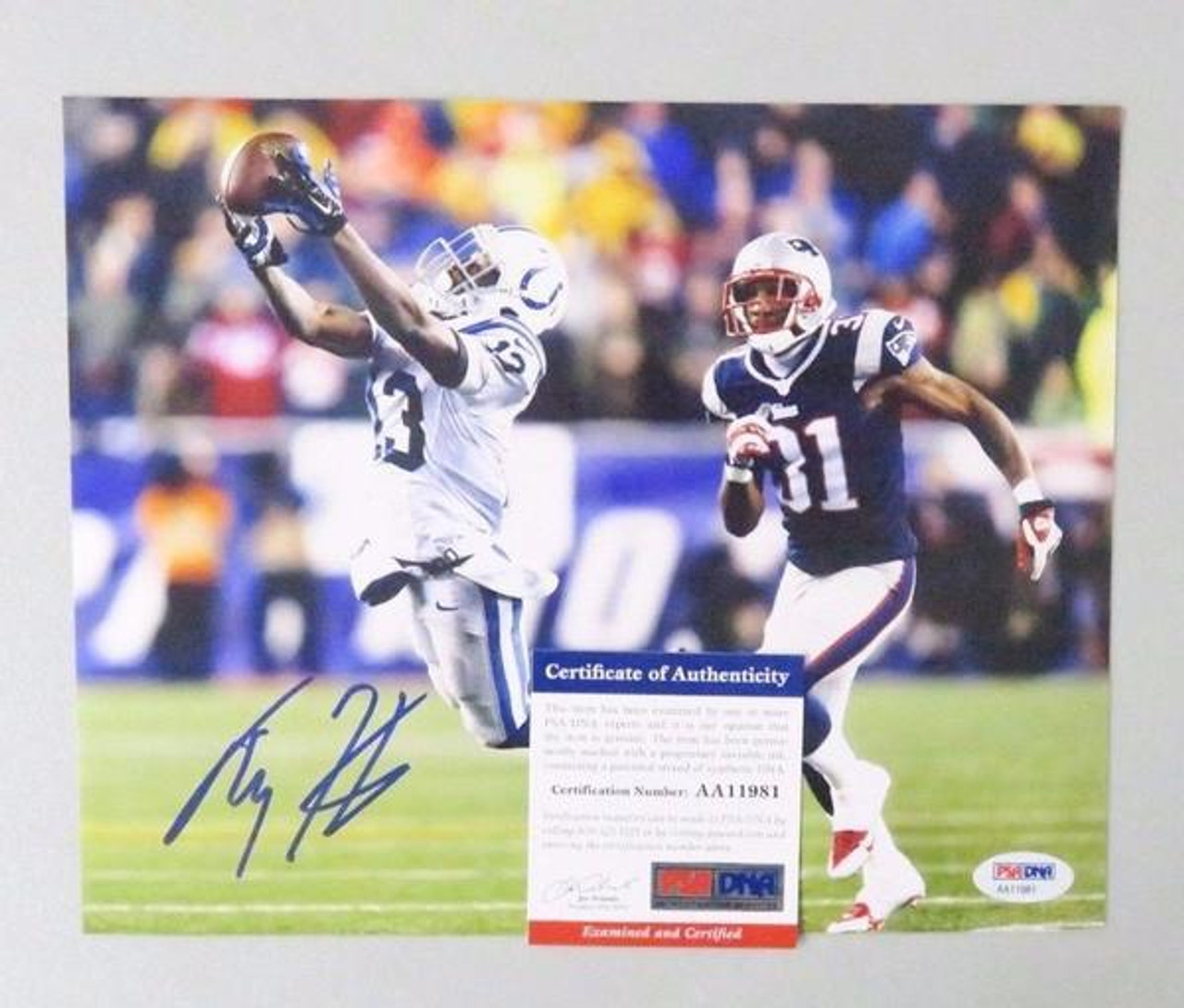 new concept 09c63 db80b TY Hilton Indianapolis Colts Autographed 8x10 Football Photo