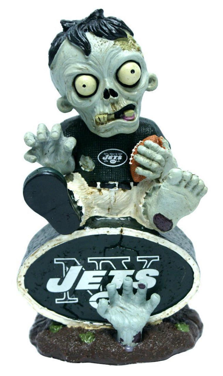 New York Jets Nfl Zombie On Logo Resin Garden Figure Maverick Autographs And Collectibles