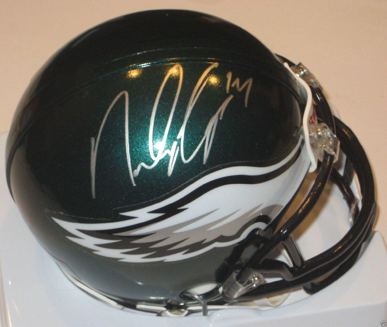 release date 4ffda b936f Riley Cooper Philadelphia Eagles Autographed Mini Football Helmet