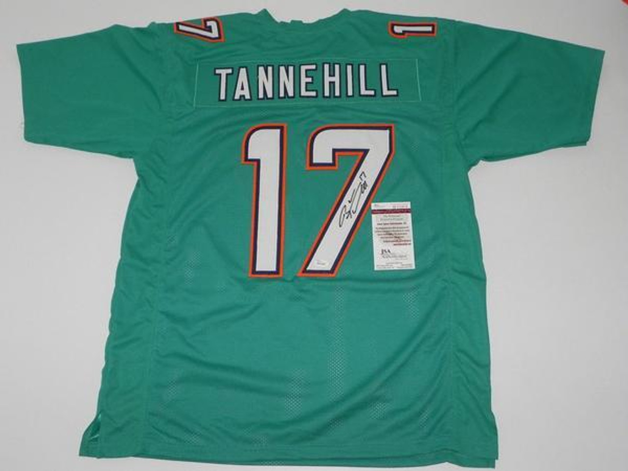 cheap for discount 7d48f 152ce Ryan Tannehill Miami Dolphins Autographed Teal Custom NFL Football Jersey
