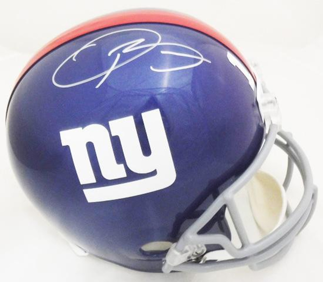 fbf70c0a Odell Beckham Jr New York Giants Autographed Decaled Full Size Replica  Helmet - Maverick Autographs and Collectibles