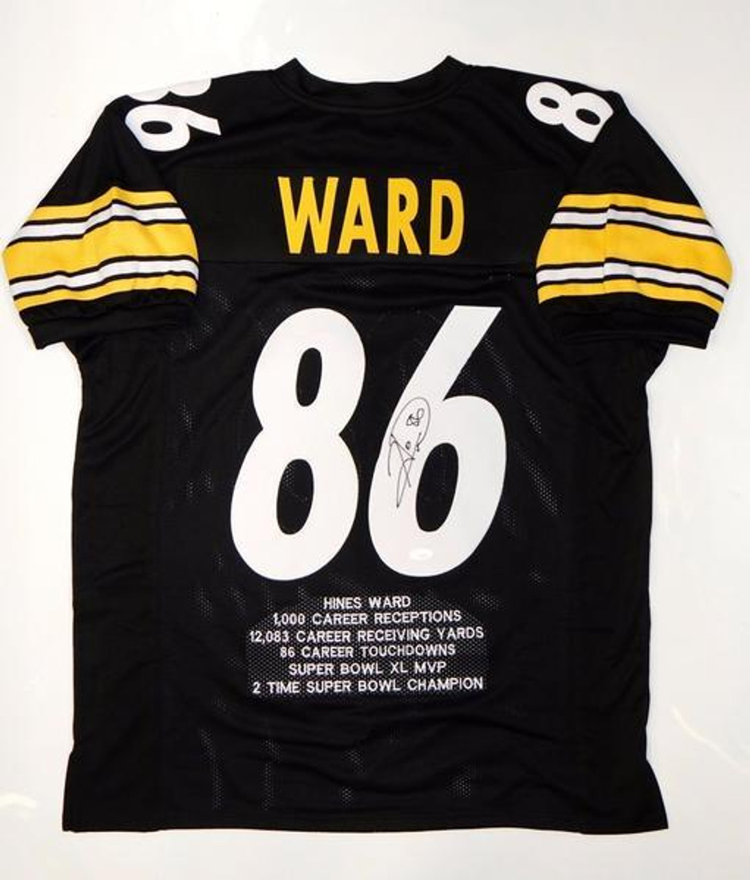 99fd8cf24 Hines Ward Pittsburgh Steelers Autographed NFL Custom Football Jersey