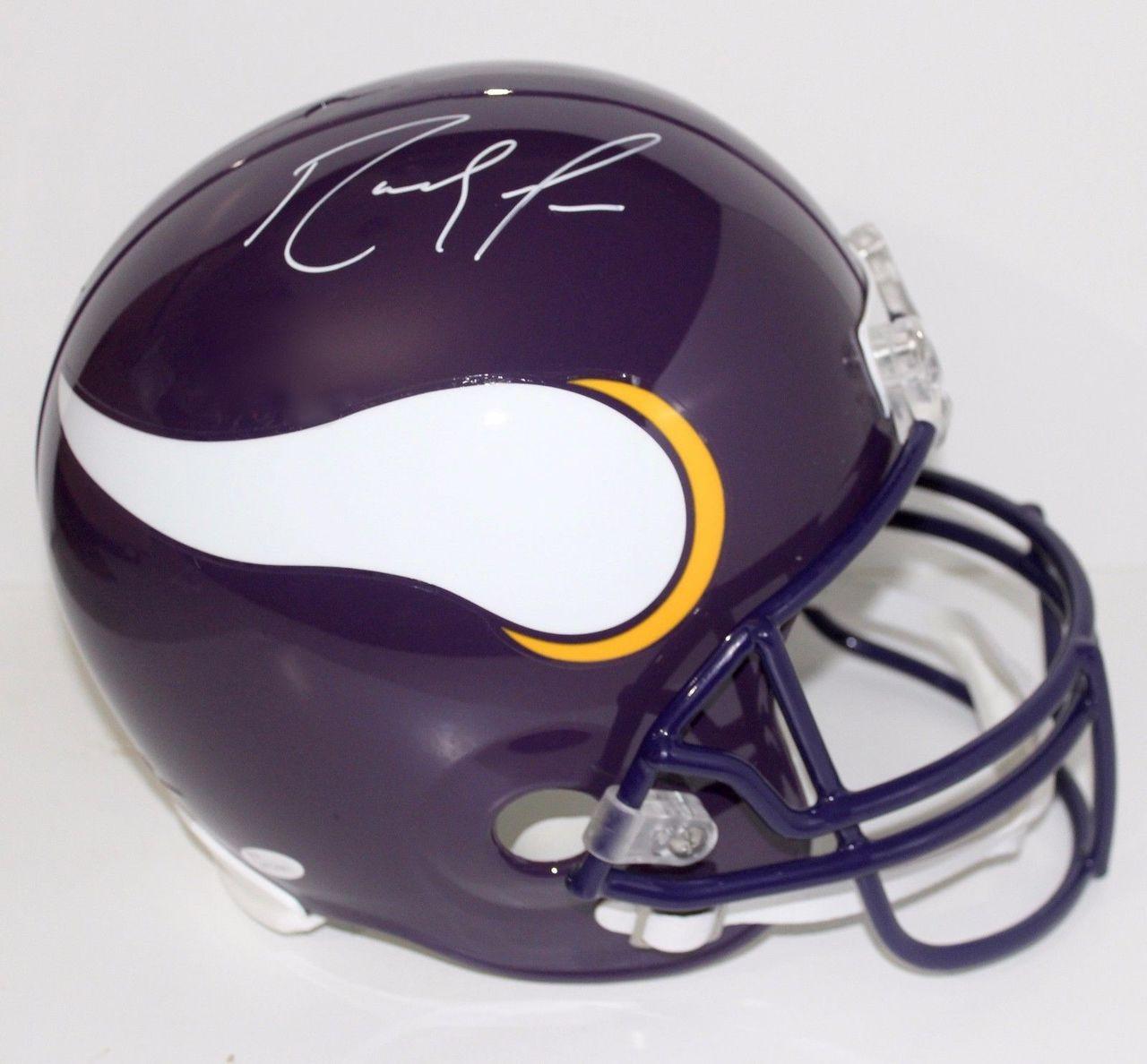 separation shoes f4cfa 6ade2 Randy Moss Minnesota Vikings Autographed Full Size Replica Helmet