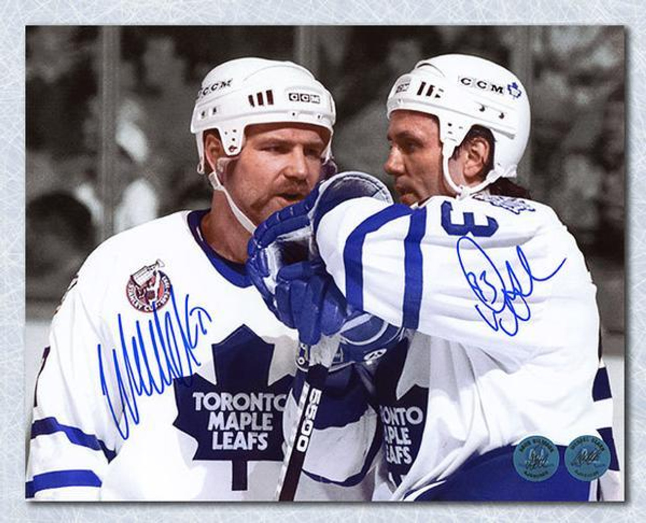 uk availability 5cb82 2b1f2 Doug Gilmour Wendel Clark Toronto Maple Leafs Dual Signed 16x20 Photo