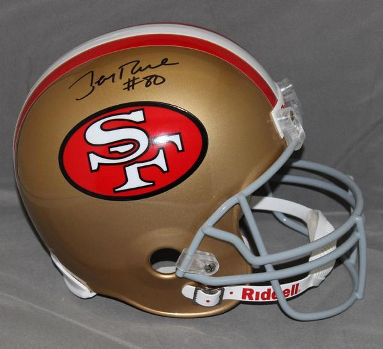 fc1ac23b1 Jerry Rice San Francisco 49ers Autographed Replica Helmet