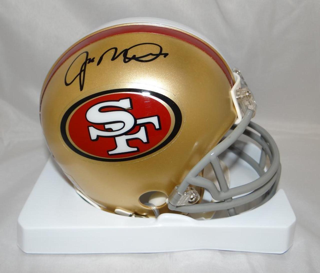 super popular c493b b14a6 Joe Montana San Francisco 49ers Autographed Mini Football Helmet