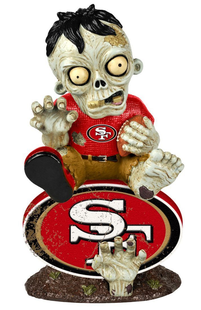 San Francisco 49ers Nfl Zombie On Logo Resin Garden Figure Maverick Autographs And Collectibles