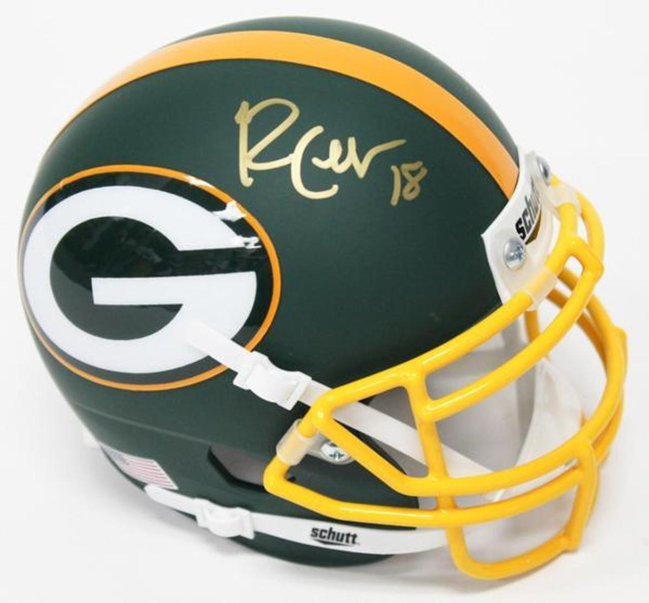 Randall Cobb Green Bay Packers Custom Mini Helmet Maverick Autographs And Collectibles