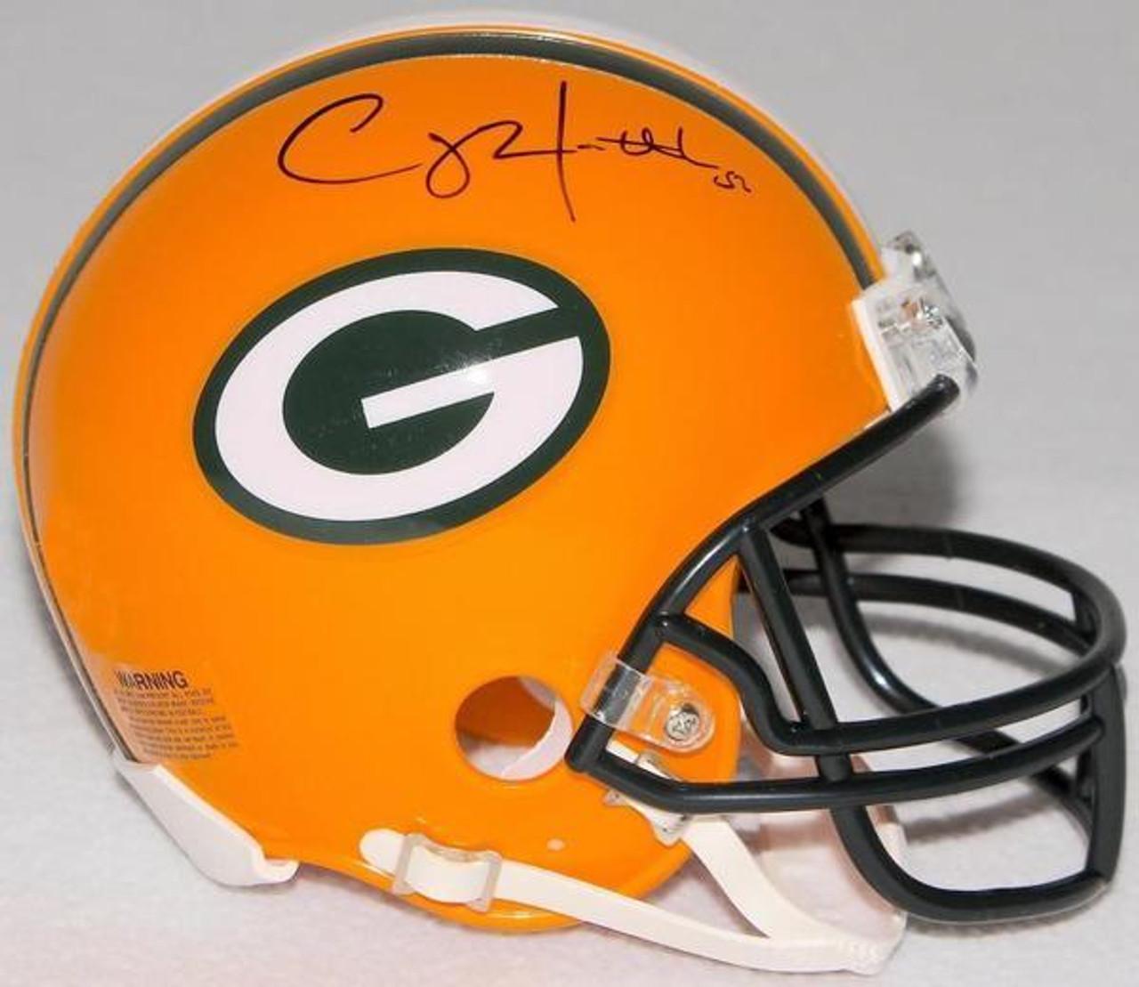 newest 64a84 f2a52 Clay Matthews Green Bay Packers Autographed Mini Football Helmet