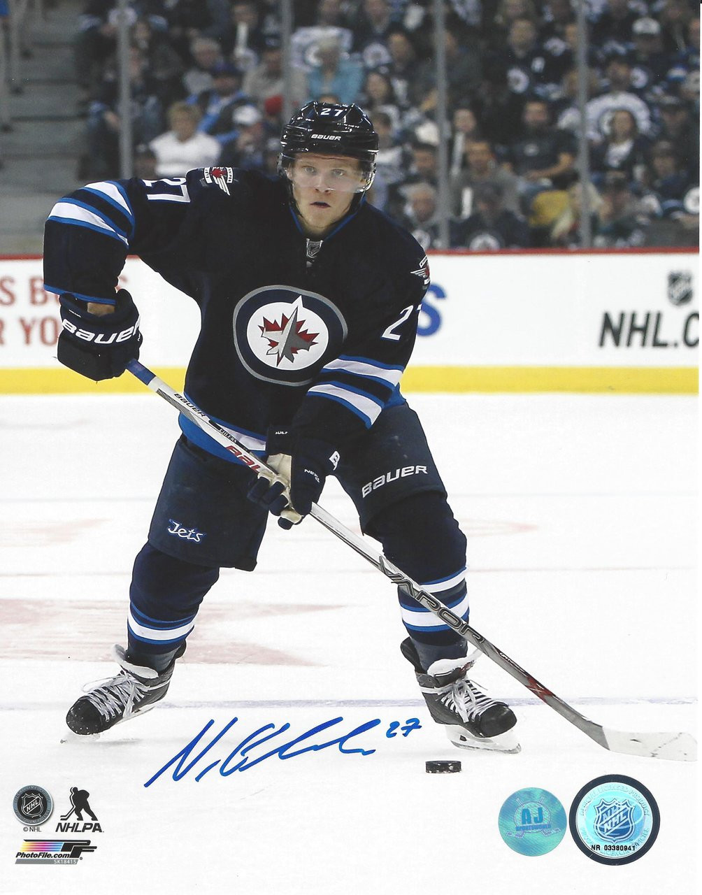 best cheap bf694 70cec Nikolaj Ehlers Winnipeg Jets Autographed 8x10 Photo