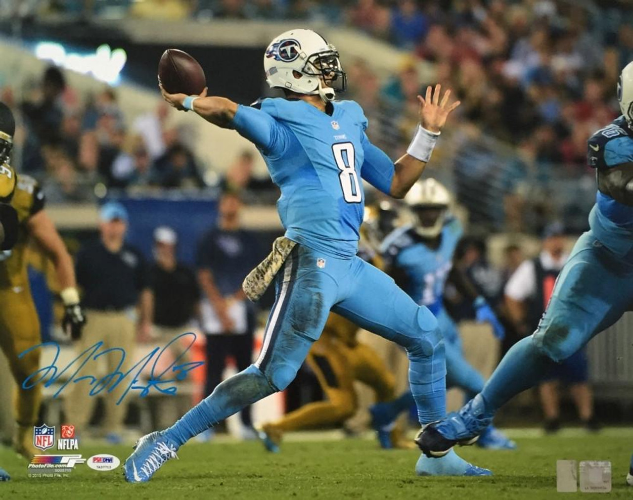 cheap for discount 5817f 0b719 Marcus Mariota Tennessee Titans Color Rush 16x20 Photo