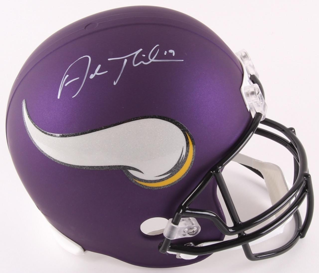 b4c221166c6 Adam Thielen Minnesota Vikings Autographed Replica Full Size Helmet ...