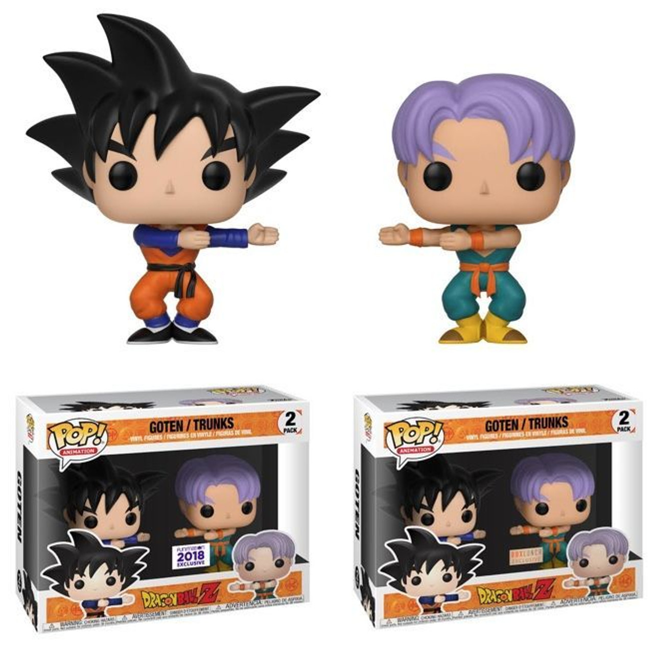 009850cb Goten/Trunks Dragon Ball Z Lunch Box Exclusive Funko Pop 2 Pack - Maverick  Autographs and Collectibles