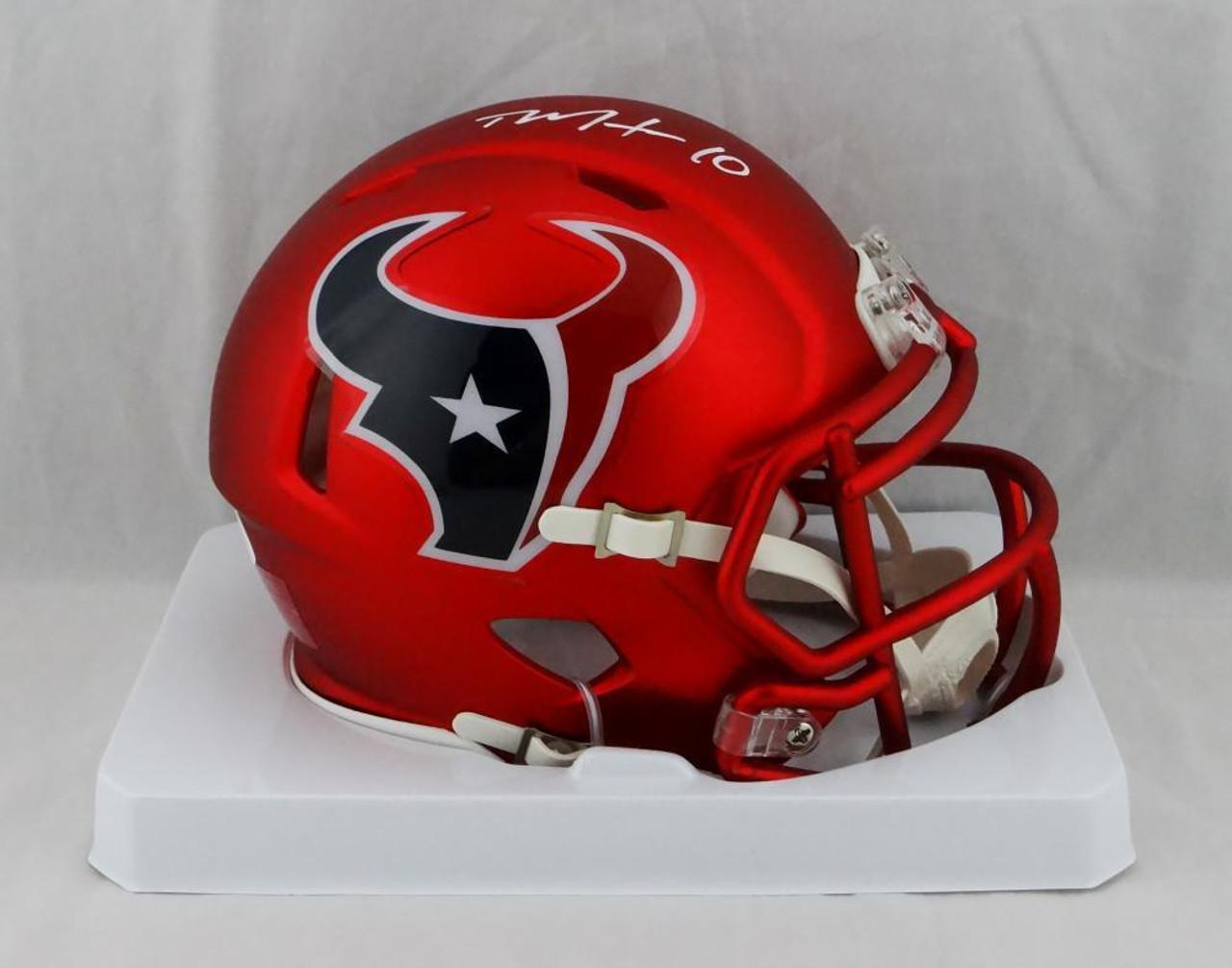 6a0cc258 Deandre Hopkins Houston Texans Autographed Blaze Mini Football Helmet