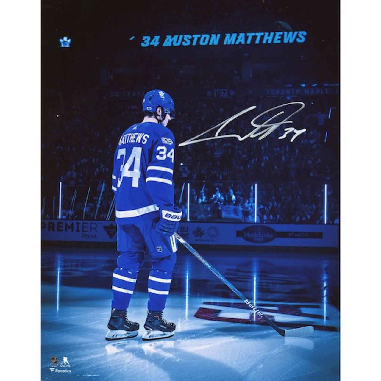 the best attitude d4c28 0132d Auston Matthews Toronto Maple Leafs Autographed Introduction 8x10 Photo