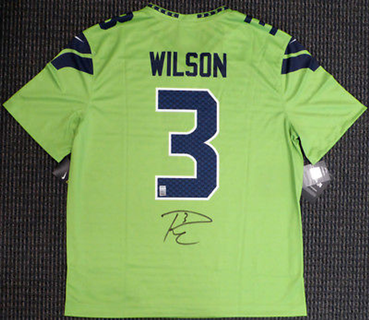 timeless design ed7cc db8b2 Russell Wilson Seahawks Seahawks Autographed Nike Color Rush Football Jersey