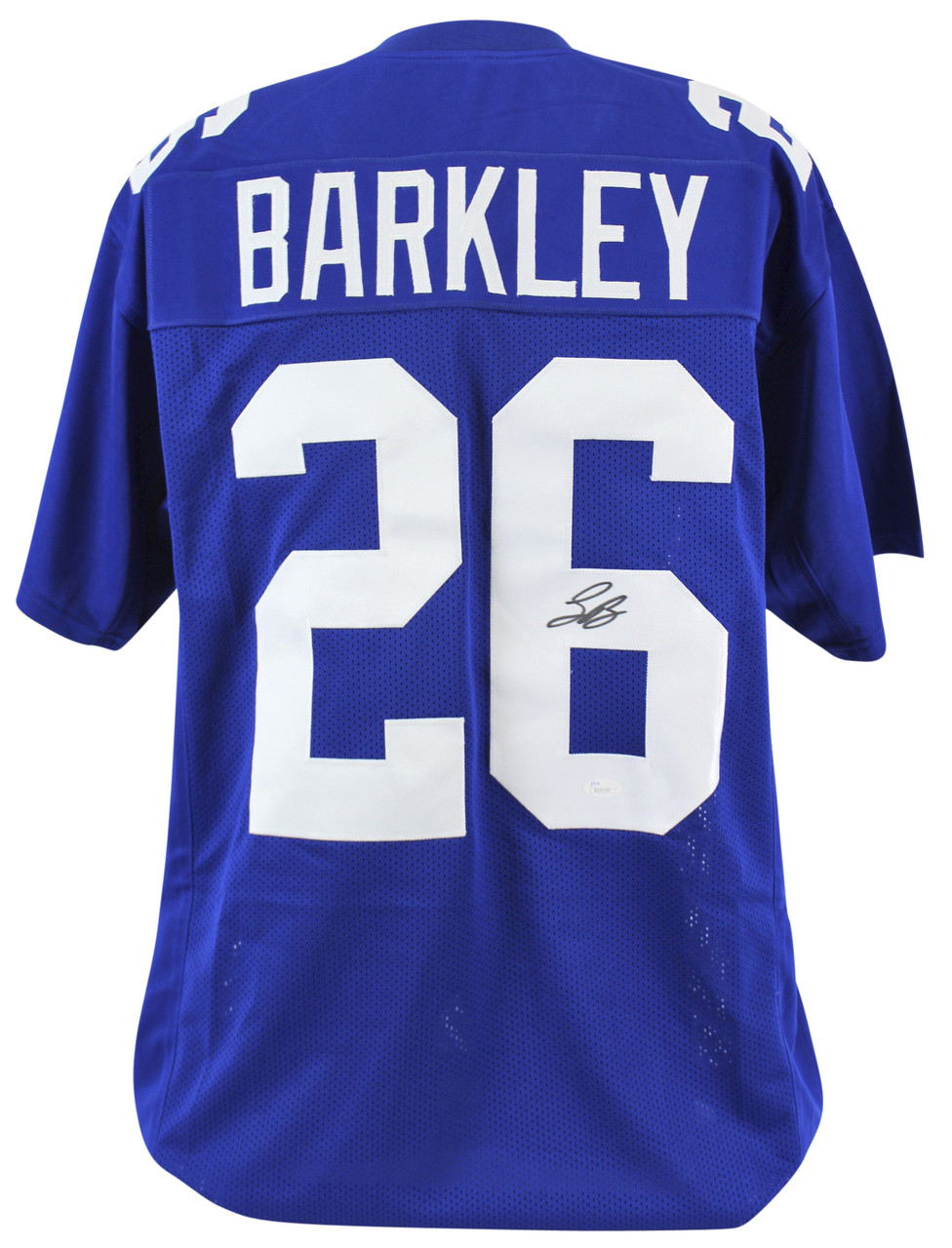 info for 0db17 a2848 Saquon Barkley New York Giants Autographed Custom Football Jersey