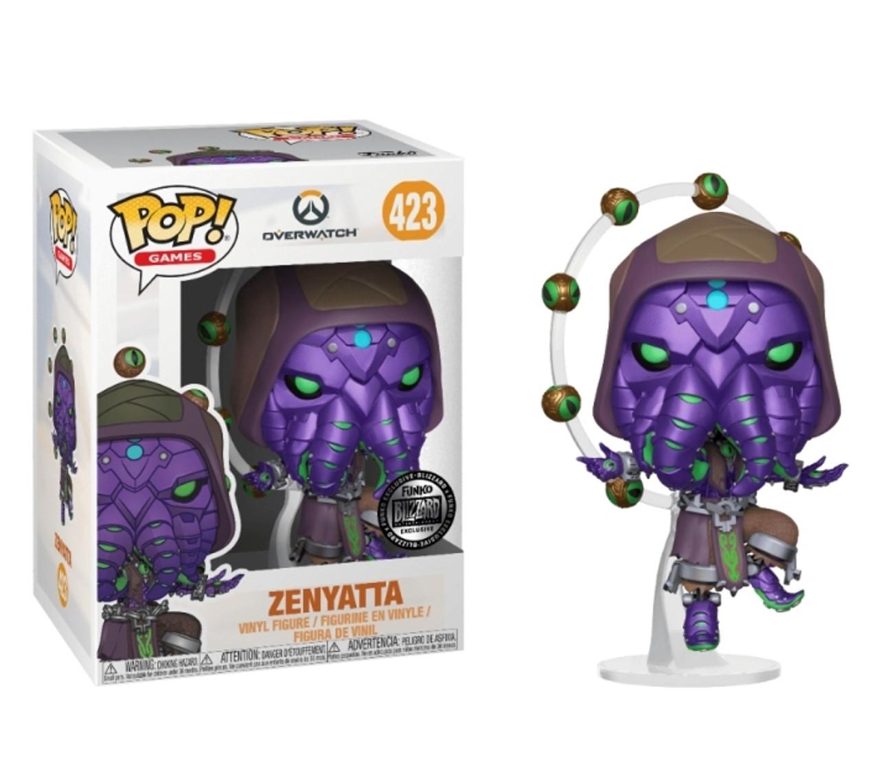 Halloween Pop.Zenyatta 423 Overwatch Halloween Cthulhu Cultist Blizzard Exclusive Funko Pop