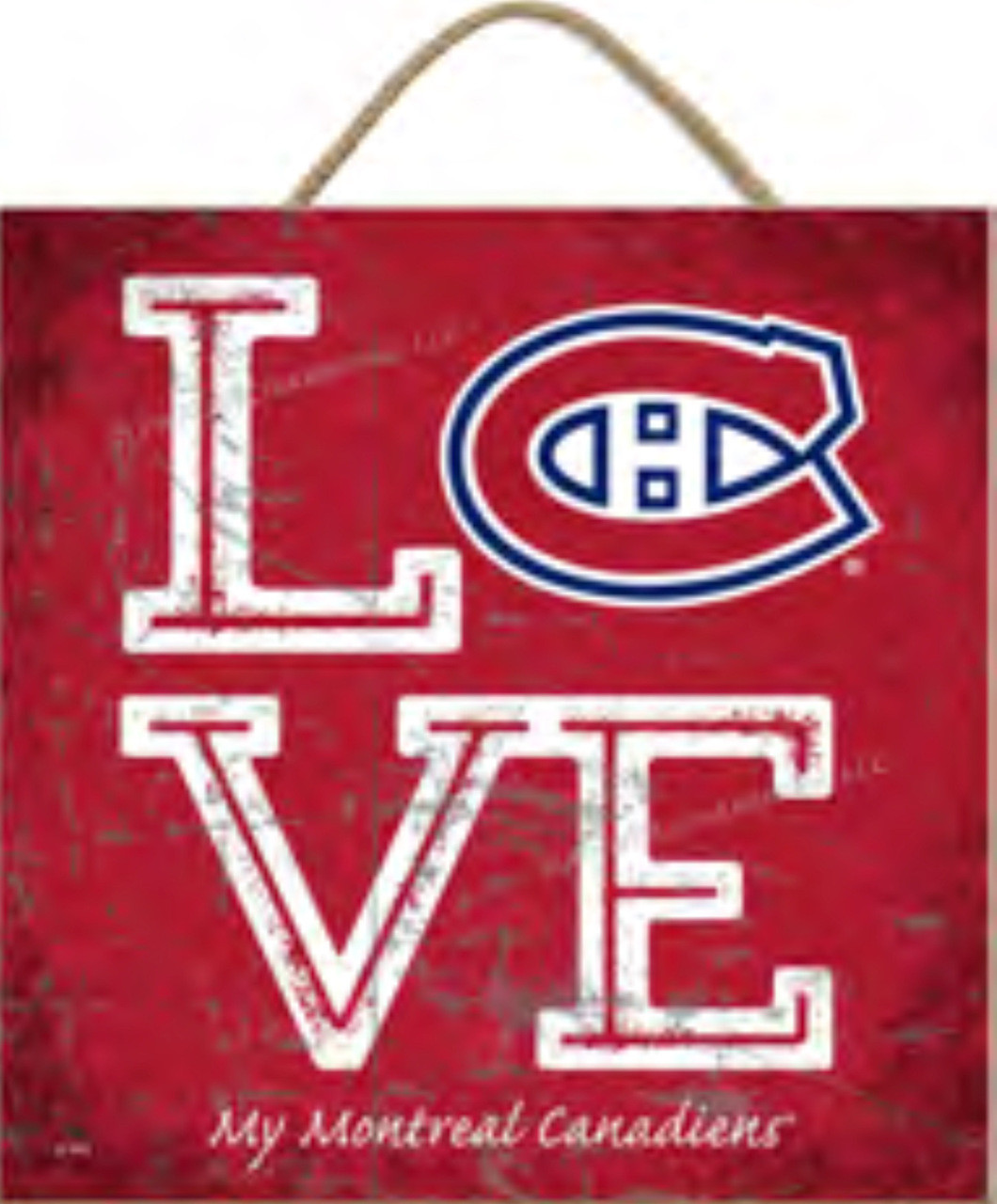 the latest d3a28 2a6bc Montreal Canadiens Love My Montreal Canadiens Team Color NHL 10x10 Wood Sign