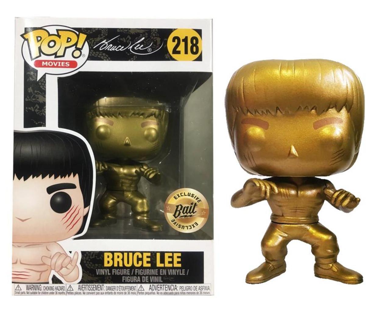 Bruce Lee Gold Version Enter The Dragon Pop Movies #218 Vinyl Figur Funko Spielzeug