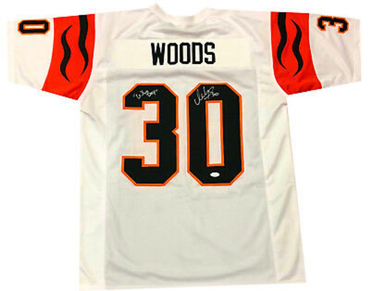 premium selection 31e30 6dfba Ickey Woods Cincinnati Bengals Autographed Custom Football Jersey