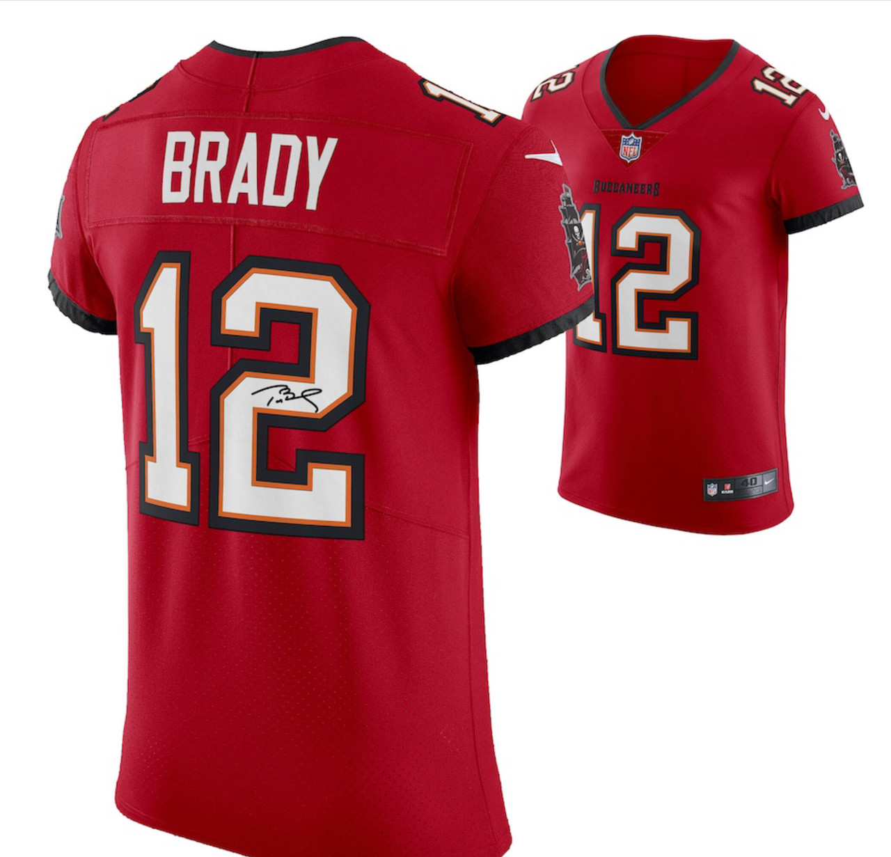 Coming Soon: Tom Brady Tampa Bay Buccaneers Autographed Nike Game Player Red Replica Jersey