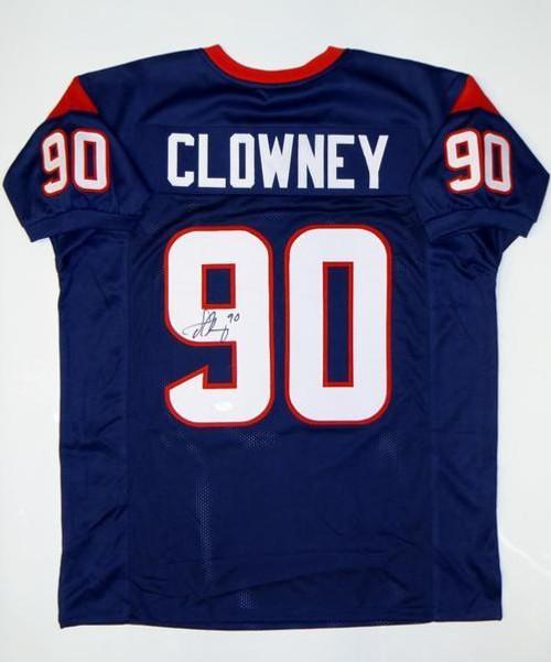 cheaper a4471 4c09b Jadeveon Clowney Houston Texans Autographed NFL Custom Football Jersey