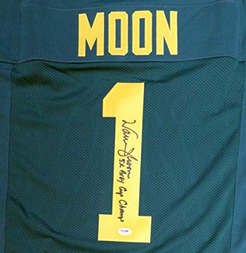 sports shoes 0cce6 f52f9 Warren Moon Edmonton Eskimos Autographed Custom Football Jersey