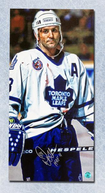 new arrival 2fd5a d7375 Doug Gilmour Toronto Maple Leafs Autographed Bloody Warrior 14x28 Canvas