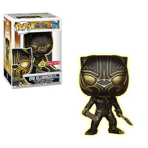 bf9cafea1ed2 Killmonger Black Panther Movie  279 Glow In the Dark Target Exclusive Funko  Pop with Protector