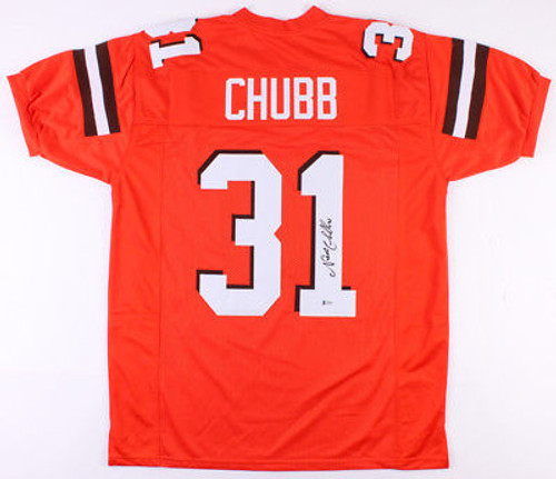 pretty nice 5e0ce 6d8ca Nick Chubb Cleveland Browns Autographed Custom Football Jersey