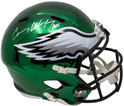 08f20e551e7 Carson Wentz Philadelphia Eagles Autographed Riddell Chrome Replica Helmet