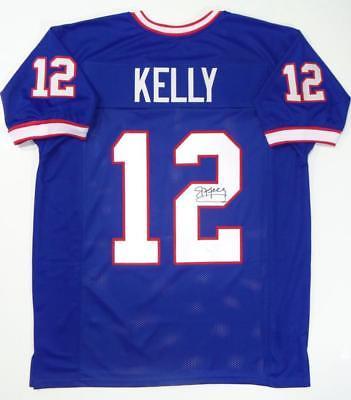 sports shoes 62c5f c0a6a Jim Kelly Buffalo Bills Autographed Custom Stat Football Jersey