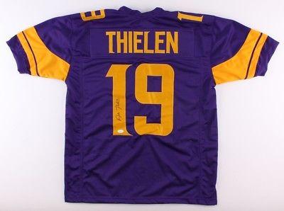 buy online 0e35a af9b5 Adam Thielen Minnesota Vikings Autographed Custom Color Rush Football Jersey