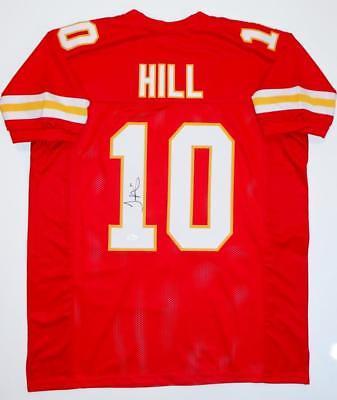 buy online 9263e a337c Tyreek Hill Kansas Chiefs Autographed Custom Football Jersey
