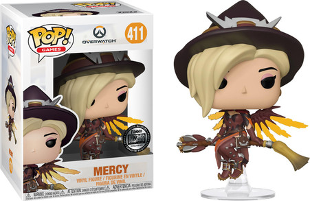 Halloween Pop.Mercy 411 Overwatch Halloween Witch Blizzard Exclusive Funko Pop